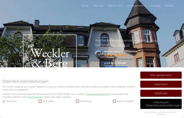Vorschau von www.weckler.de, Weckler & Berg