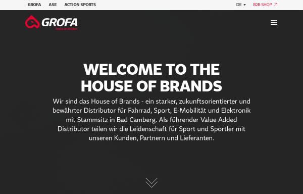 Vorschau von www.grofa.com, Grofa GmbH - House of Brands
