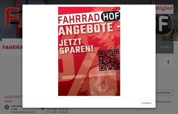 Vorschau von www.fahrradhof.de, Fahrradhof Kassel