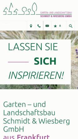 Vorschau der mobilen Webseite www.schmidt-wiesberg.de, Schmidt und Wiesberg GmbH