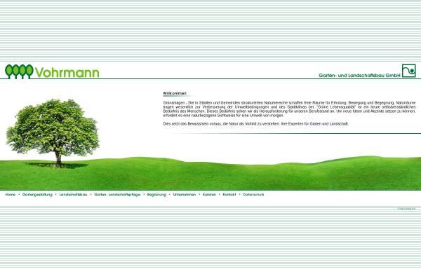 Vorschau von www.vohrmann.de, Vohrmann Garten- und Landschaftsbau GmbH