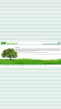 Vorschau der mobilen Webseite www.vohrmann.de, Vohrmann Garten- und Landschaftsbau GmbH