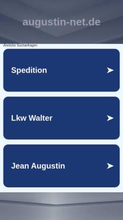 Vorschau der mobilen Webseite www.augustin-net.de, Herbert Augustin