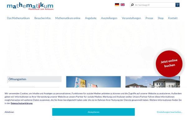 Vorschau von www.mathematikum.de, Mathematikum