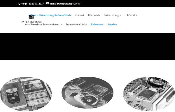 Vorschau von www.datenrettung-aw.de, Datenrettung Andreas Wach