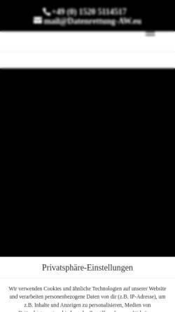 Vorschau der mobilen Webseite www.datenrettung-aw.de, Datenrettung Andreas Wach