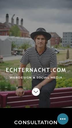 Vorschau der mobilen Webseite www.echternacht.com, Echternacht New Media
