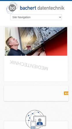 Vorschau der mobilen Webseite www.bachert.de, Bachert Datentechnik GmbH