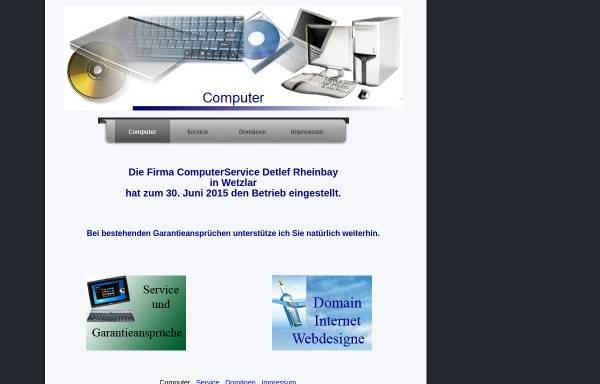 Vorschau von www.rheinbay.de, Computerservice Rheinbay