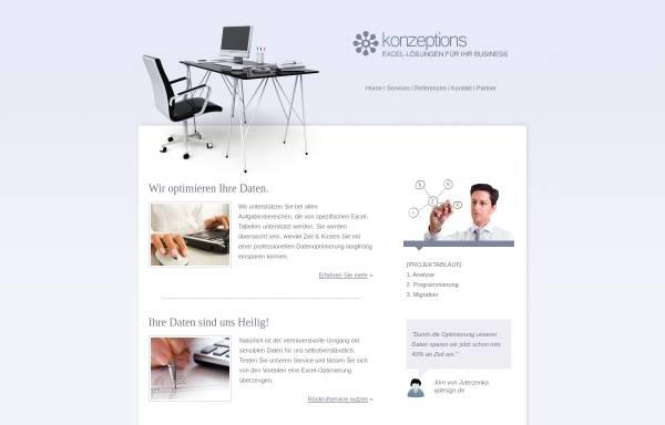 Vorschau von www.konzeptions.de, Konzeptions Excel Solutions - Hanno Klamp