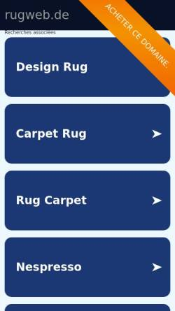 Vorschau der mobilen Webseite www.rugweb.de, RugWeb Teppichvertrieb & Service e.K.