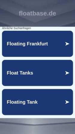 Vorschau der mobilen Webseite www.floatbase.de, Floatbase GmbH