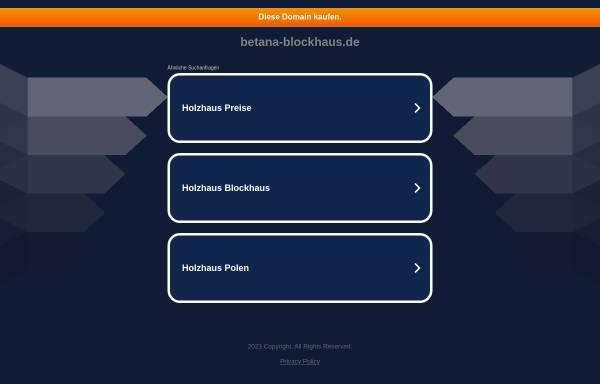 Betanor Holzhaus Gmbh In Willich Blockhauser Holzbauweise Betana