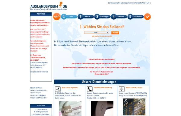 Vorschau von auslandsvisum.de, Auslandsvisum.de