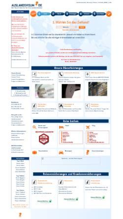 Vorschau der mobilen Webseite auslandsvisum.de, Auslandsvisum.de