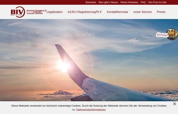 Vorschau von www.visadienst.com, V I B Service Ltd.