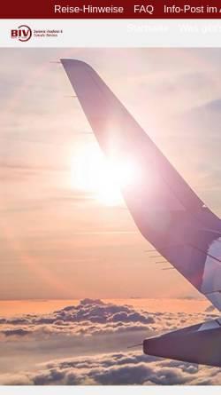 Vorschau der mobilen Webseite www.visadienst.com, V I B Service Ltd.