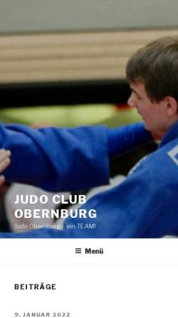 Vorschau der mobilen Webseite www.judo-obernburg.de, Judoclub Obernburg
