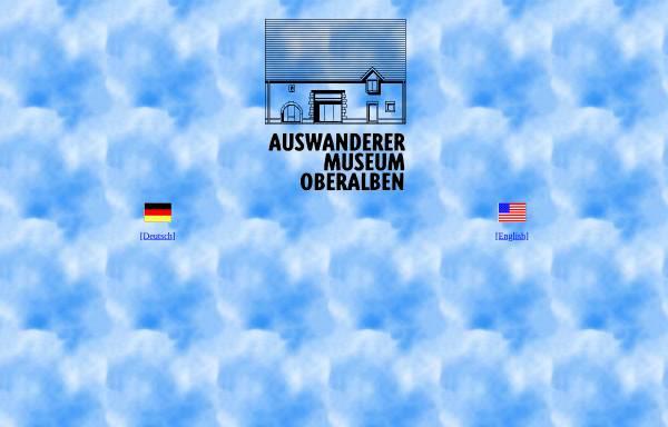 Vorschau von www.auswanderermuseum.de, Auswanderer-Museum Oberalben