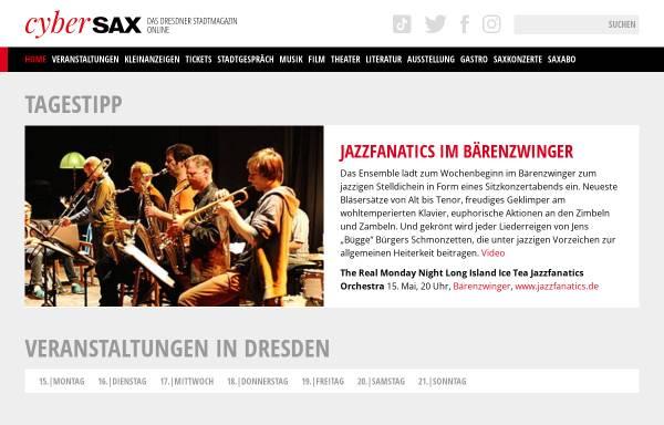 Vorschau von www.cybersax.de, cyberSAX