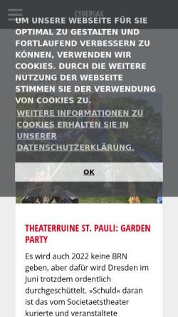 Vorschau der mobilen Webseite www.cybersax.de, cyberSAX