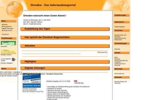 Vorschau von www.dresden-report.de, Dresden-Report
