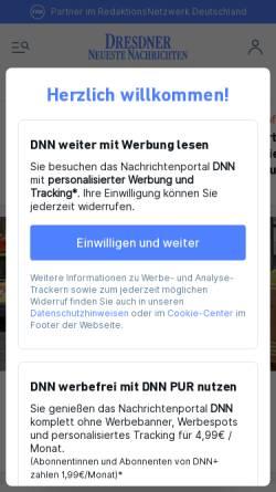Vorschau der mobilen Webseite www.dnn.de, Dresdner Neueste Nachrichten