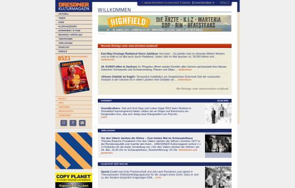 Vorschau von www.dresdner.nu, Kulturmagazin