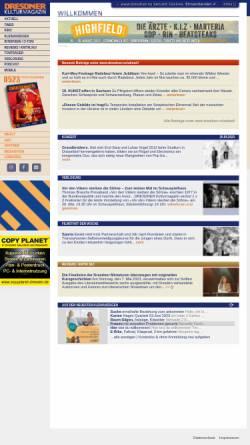 Vorschau der mobilen Webseite www.dresdner.nu, Kulturmagazin
