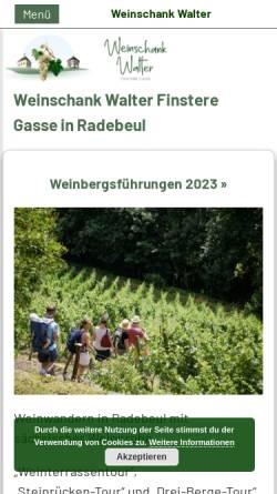 Vorschau der mobilen Webseite www.saechsische-vinothek.de, Sächsische Vinothek - Weine und Brände aus Sachsen