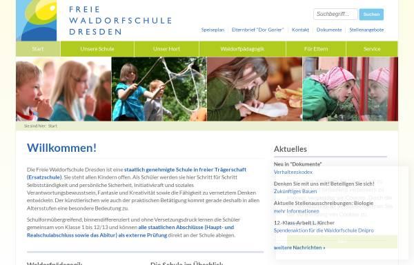 Vorschau von www.waldorfschule-dresden.de, Freie Waldorfschule