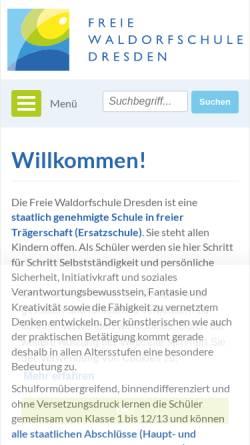 Vorschau der mobilen Webseite www.waldorfschule-dresden.de, Freie Waldorfschule