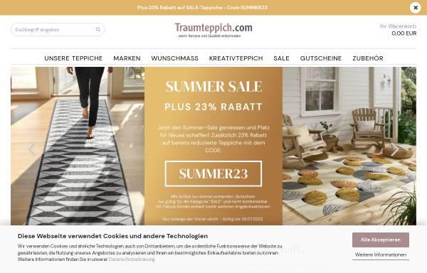 Vorschau von www.traumteppich.com, Handelsagentur Lars Becker