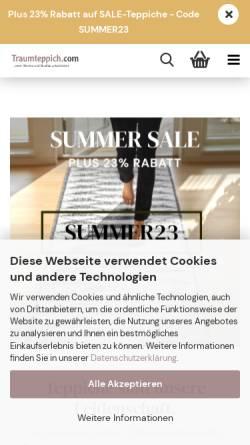 Vorschau der mobilen Webseite www.traumteppich.com, Handelsagentur Lars Becker
