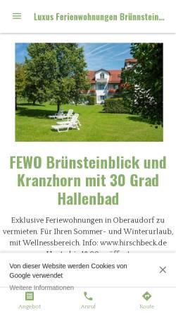 Vorschau der mobilen Webseite luxus-ferienwohnungen-brunnsteinblick-in.business.site, Ferienwohnung Brünnsteinblick