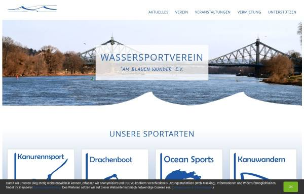 Vorschau von www.wsv-am-blauen-wunder.de, Wassersportverein Am Blauen Wunder e.V.