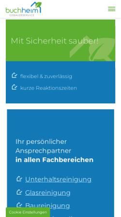 Vorschau der mobilen Webseite www.buchheim-gebaeudereinigung.de, Buchheim Gebäudereinigung in Dresden