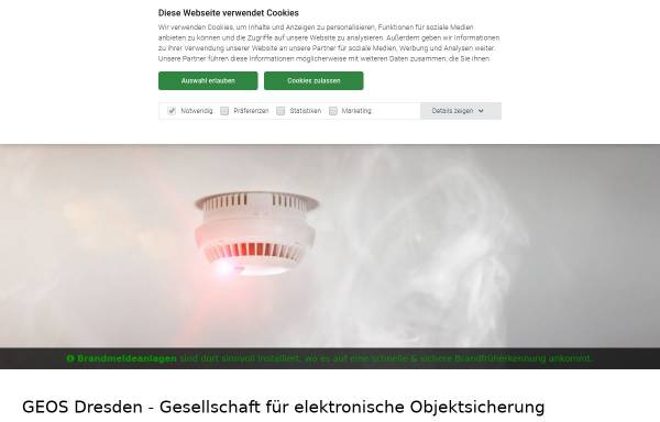 Vorschau von www.geos-dresden.de, GEOS Dresden GmbH