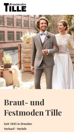 Vorschau der mobilen Webseite www.brautmoden-dresden.de, Tille Brautmoden