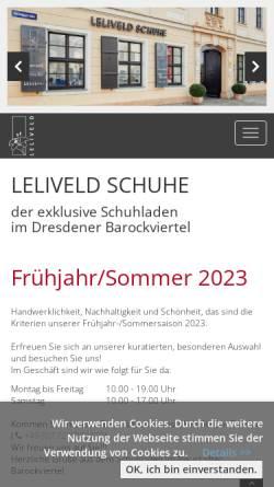 Vorschau der mobilen Webseite www.leliveld-schuhe.de, Leliveld-Schuhe