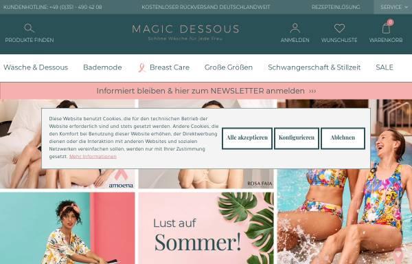 Vorschau von www.magic-dessous.de, Rehaland Orthopädietechnik GmbH - Abteilung magic-dessous