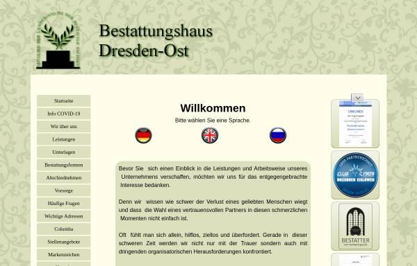Vorschau von www.bestattungshaus-dresden-ost.de, Bestattungshaus Dresden-Ost