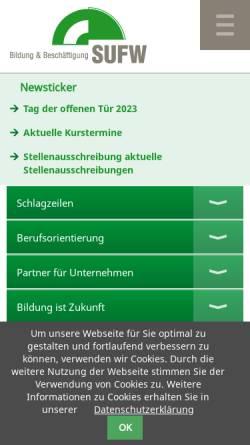 Vorschau der mobilen Webseite www.sufw.de, SUFW Dresden e. V.
