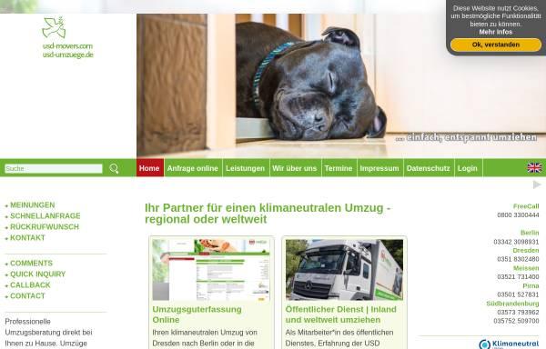 Vorschau von www.usdumzuege.de, USD Umzugsservice GmbH
