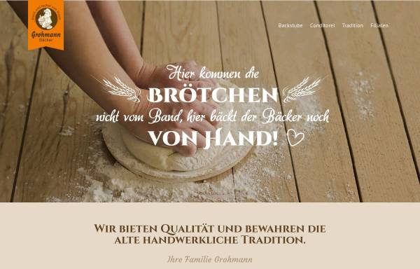 Vorschau von www.baeckereigrohmann.de, Feinbäckerei - Konditorei Rainer Grohmann