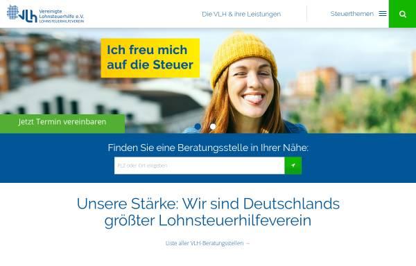 Vorschau von www.vlh.de, Vereinigte Lohnsteuerhilfe e.V. - Beratungsstelle Oberarnbach
