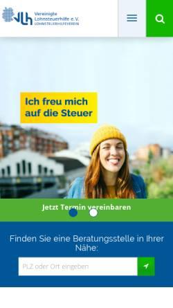 Vorschau der mobilen Webseite www.vlh.de, Vereinigte Lohnsteuerhilfe e.V. - Beratungsstelle Oberarnbach