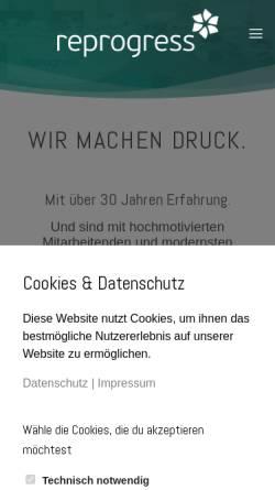 Vorschau der mobilen Webseite www.reprogress.de, reprogress GmbH