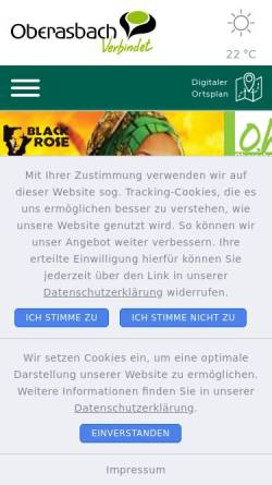 Vorschau der mobilen Webseite www.oberasbach.de, Oberasbach