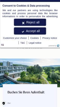 Vorschau der mobilen Webseite hotel-bad-neuenahr.dorint.com, Dorint Park-Hotel